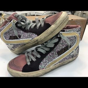 Golden Goose glitter high top sneaker